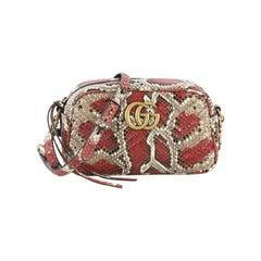 Gucci GG Marmont Shoulder Bag Matelasse Python Small