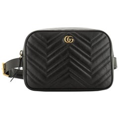 Gucci GG Marmont Square Belt Bag Matelasse Leather