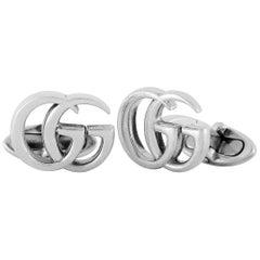 Gucci GG Marmont Sterling Silver Cufflinks