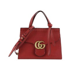 Gucci GG Marmont Top Handle Bag Leather Mini