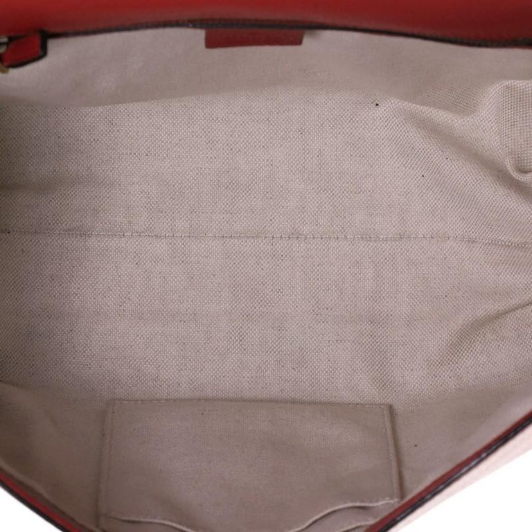 Gucci GG Marmont Top Handle Bag Leather Small For Sale 1