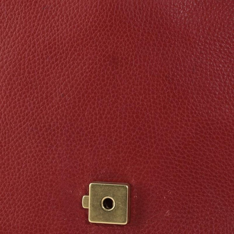 Gucci GG Marmont Top Handle Bag Leather Small For Sale 3