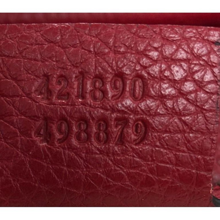 Gucci GG Marmont Top Handle Bag Leather Small For Sale 5