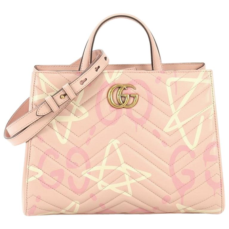 5edc437f2 Gucci GG Marmont Tote GucciGhost Matelassé Leather Small For Sale at ...