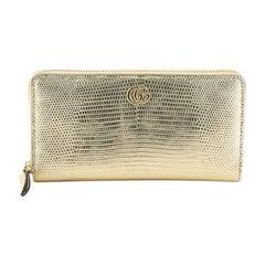 Gucci GG Marmont Zip Around Wallet Lizard