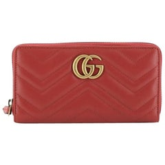 Gucci GG Marmont Zip Around Wallet Matelasse Leather