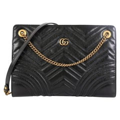 Gucci GG Marmont Zip Tote Matelasse Leather Small