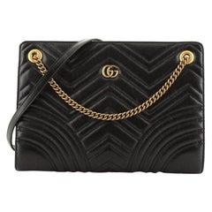 Gucci  GG Marmont Accordion Shoulder Bag Matelasse Leather Medium