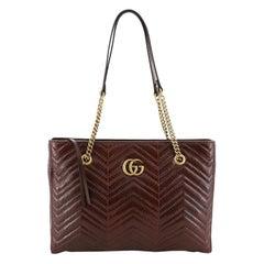 Gucci GG Marmont Zip Tote Matelasse Python Medium