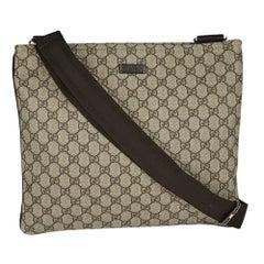 Gucci GG Monogram Beige/Ebony Canvas Messenger Bag