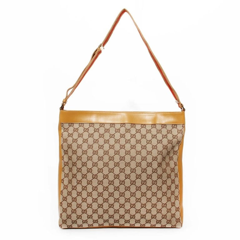 Gucci GG Monogram Canvas Messenger Bag (Tom Ford) In Good Condition For Sale In Los Angeles, CA