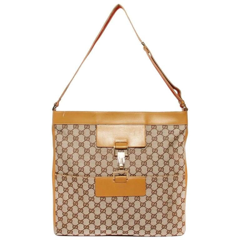 Gucci GG Monogram Canvas Messenger Bag (Tom Ford) For Sale