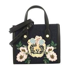 Gucci GG Pearly Tote Embroidered Denim Small