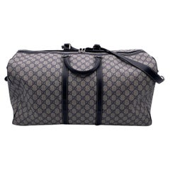 Gucci GG Plus Monogram Canvas Large Duffle Duffel Carry On Bag