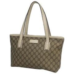 GUCCI GG plus shoulder Womens tote bag 211138 beige x ivory