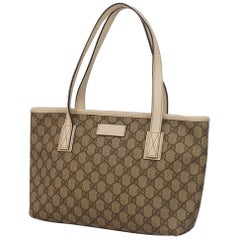 GUCCI GG plus shoulder Womens tote bag 211138 beige x ivory
