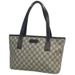 GUCCI GG plus shoulder Womens tote bag 211138 beige x Navy