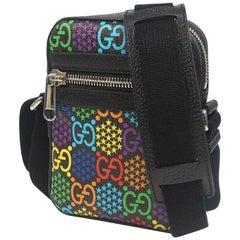 GUCCI GG psychedelic unisex shoulder bag 598103 black x multi color