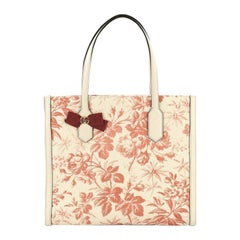 Gucci GG Ribbon Tote Coated Printed Canvas Medium