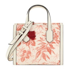 Gucci GG Ribbon Tote Printed Linen Small