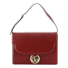 Gucci GG Ring Shoulder Bag Leather Medium