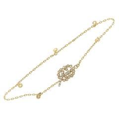 Gucci GG Running 18 Karat Yellow Gold Diamond Bracelet