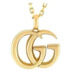 Gucci GG Running 18 Karat Yellow Gold Large Pendant Necklace