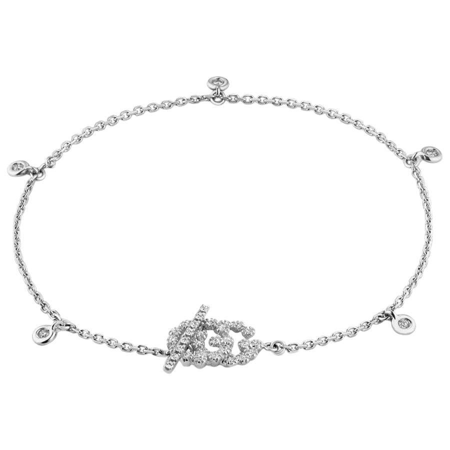 Gucci GG Running Bracelet with Diamonds YBA481671002