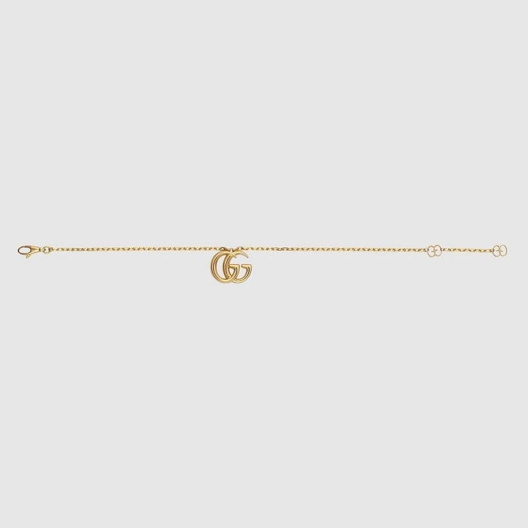 Gucci GG Running Yellow Gold Bracelet YBA501676001 In New Condition For Sale In Wilmington, DE