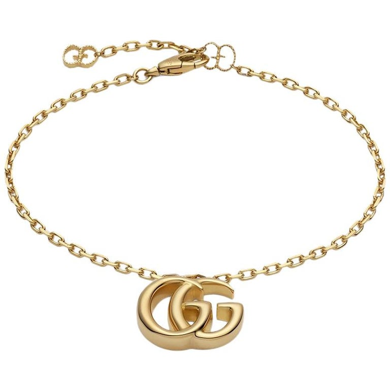 Gucci GG Running Yellow Gold Bracelet YBA501676001 For Sale