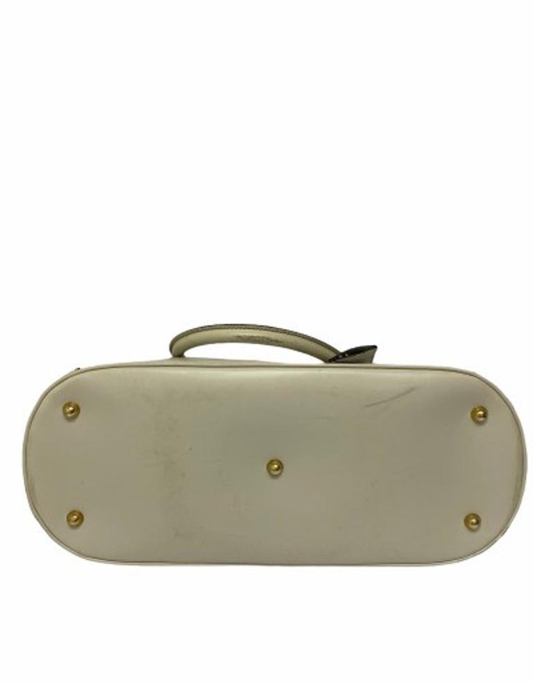 Gucci GG Supreme bag in Supreme Fabric and White Leather Trim For Sale 1