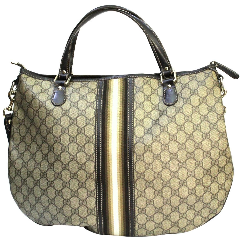 772911ec2a9d Gucci GG Supreme Canvas Crossbody/Shoulder Bag at 1stdibs