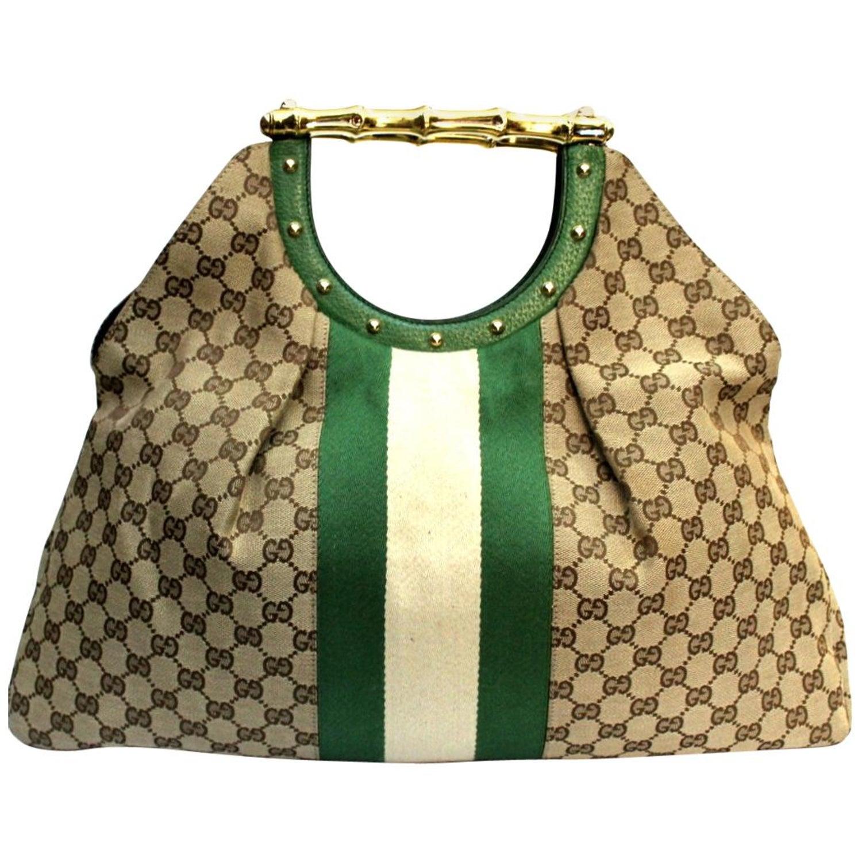 bb514e6be35c9a Gucci GG Supreme Canvas Handle Bag at 1stdibs