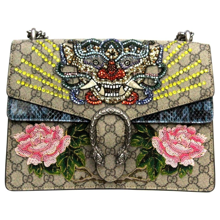 Gucci GG Supreme Canvas Limited Edition Dionysus Bag  For Sale
