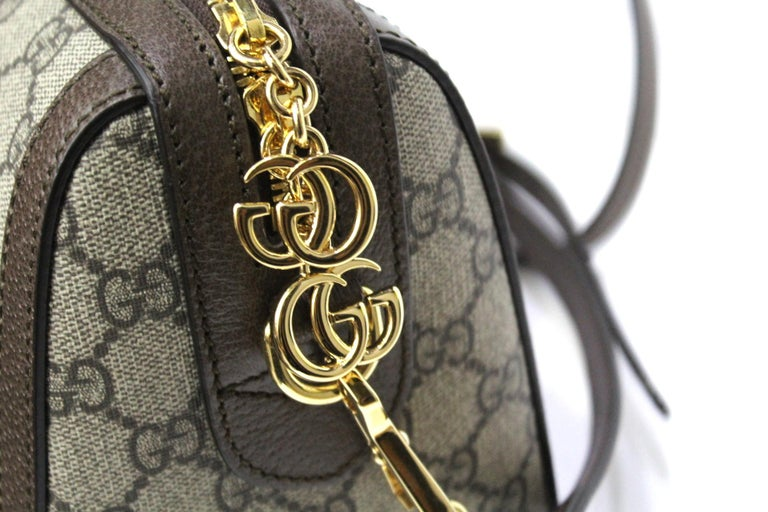 Gray Gucci GG Supreme Canvas Ophidia Bag