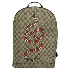 Gucci GG Supreme Canvas Snake Backpack