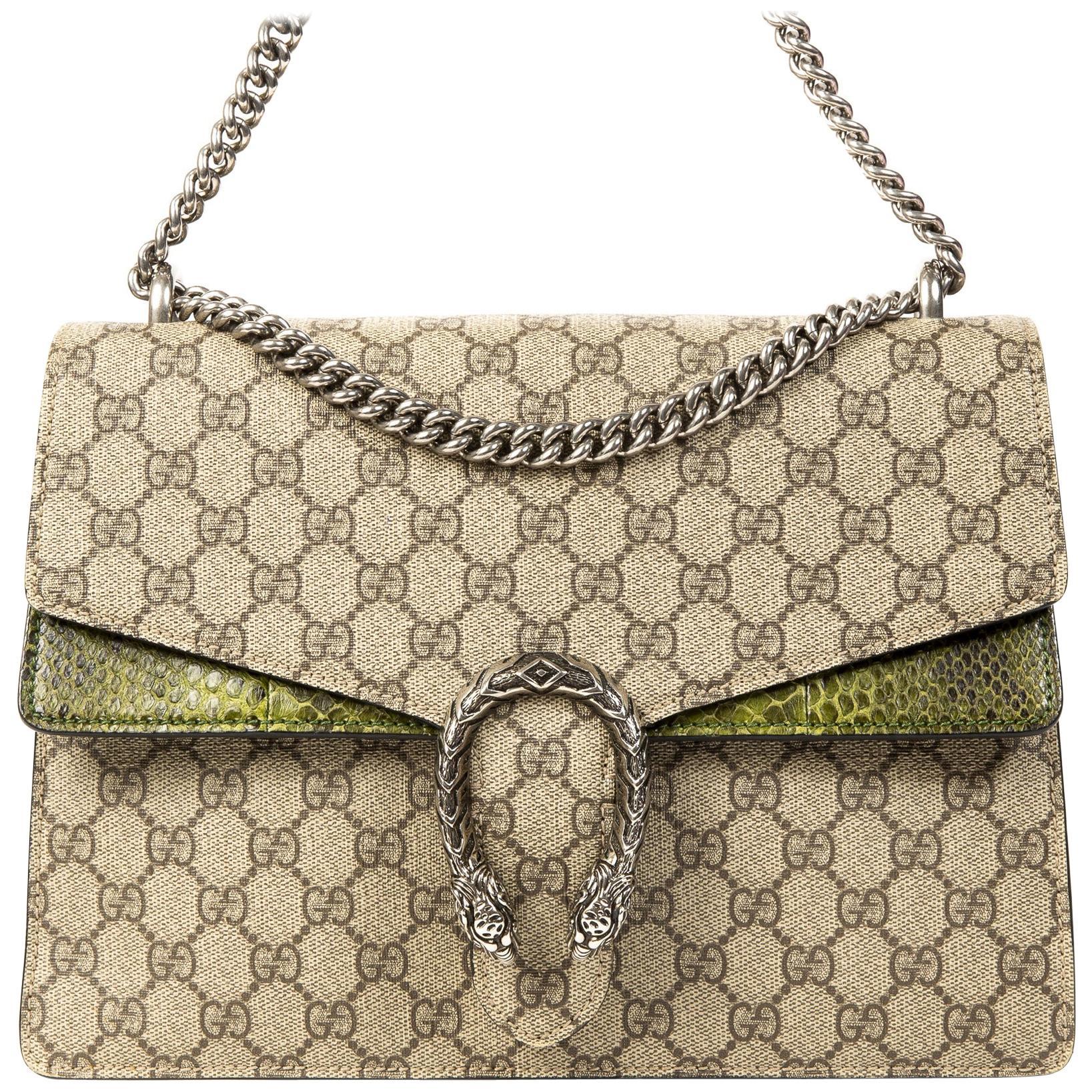 Gucci GG Supreme Monogram Python Dionysus