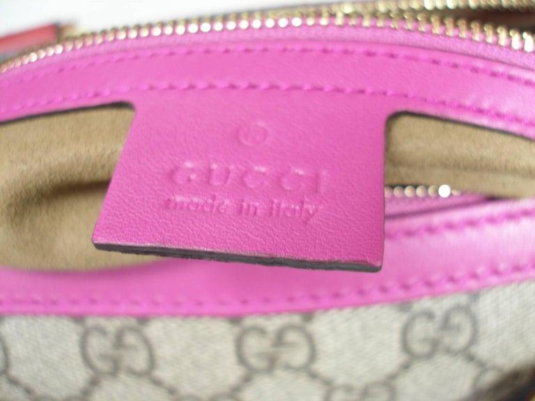 Gucci GG Supreme Top Handle Medium Boston Bag Multicolour Beige-pink-red For Sale 1
