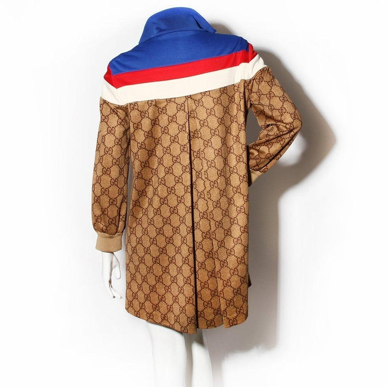 """Brown Gucci """"GG"""" Track Jacket Circa 2018 For Sale"""