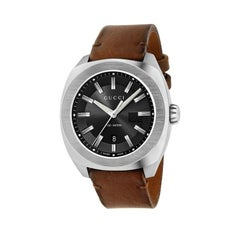 Gucci GG2570 Quartz Stainless Steel Black Dial Men's Watch YA142207