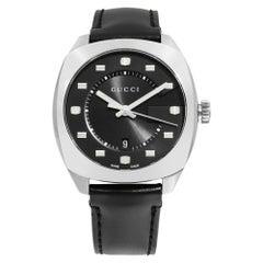 Gucci GG2570 Stainless Steel Black Dial Quartz Men's Watch YA14230
