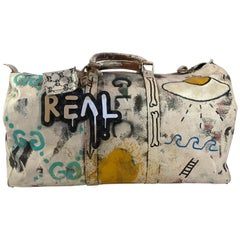 Gucci Ghost Original Hand Painted One of A Kind Louie Vuitton Duffel Bag
