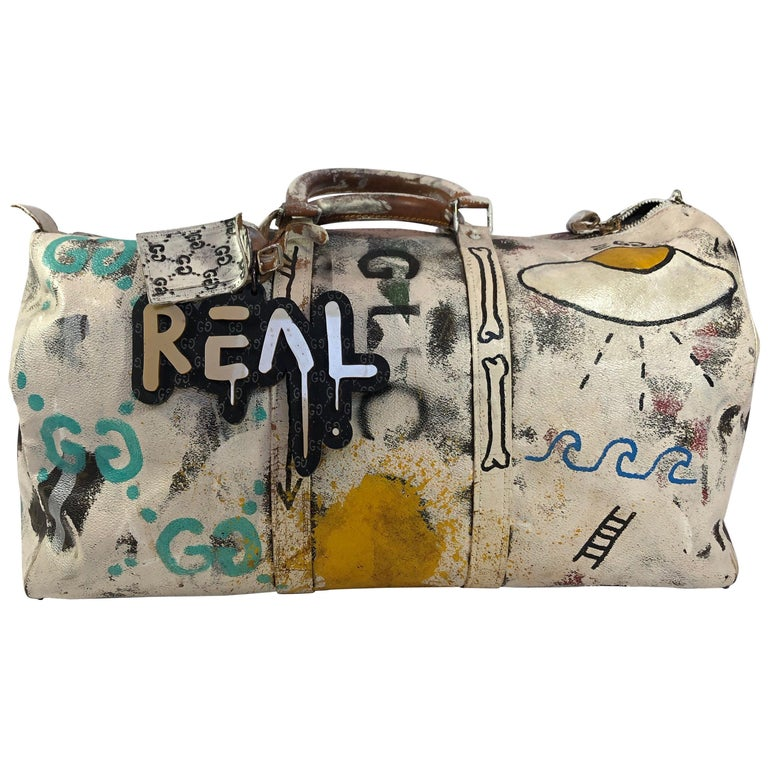 Louis Vuitton Gucci Ghost hand-painted duffel, ca. 2010, offered by Catwalk