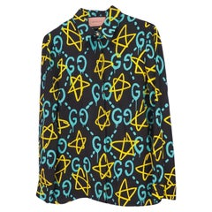 Gucci Ghost Printed Shirt (Size 42) 443492