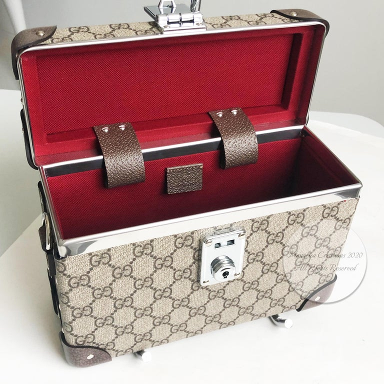 Gucci Globetrotter GG Beauty Case F/W 2018 Runway Collection For Sale 9