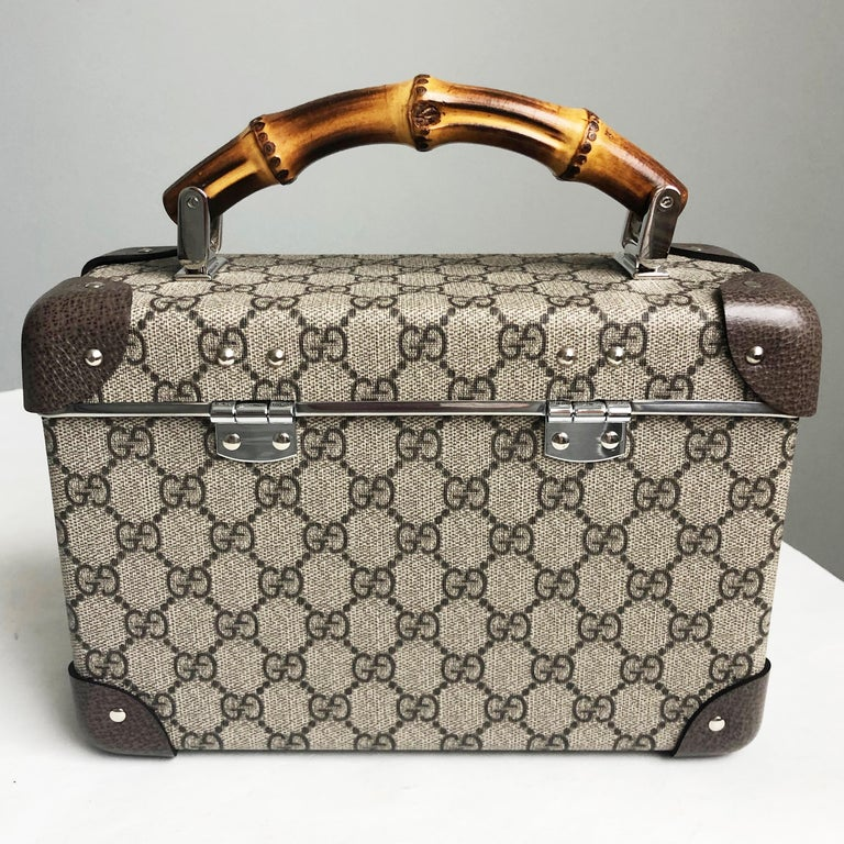 Gucci Globetrotter GG Beauty Case F/W 2018 Runway Collection For Sale 2