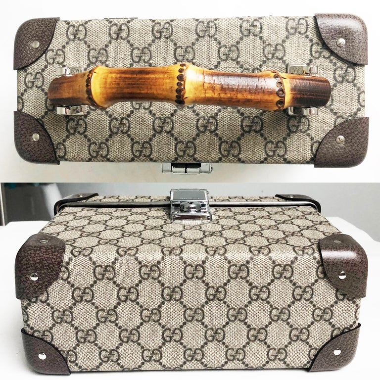 Gucci Globetrotter GG Beauty Case F/W 2018 Runway Collection For Sale 3