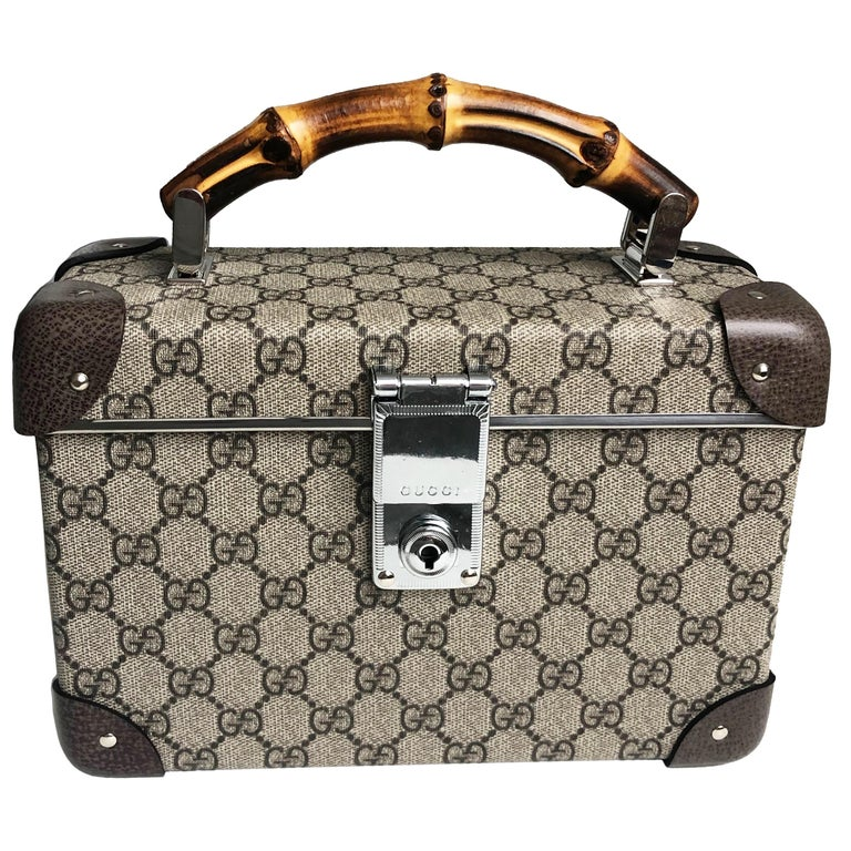 Gucci Globetrotter GG Beauty Case F/W 2018 Runway Collection For Sale