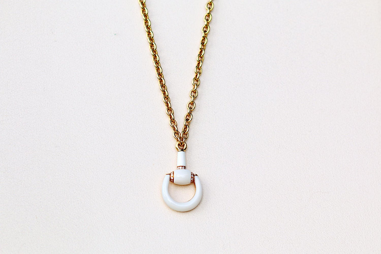 d869fe87c9473 Gucci Gold Agate Diamond Necklace