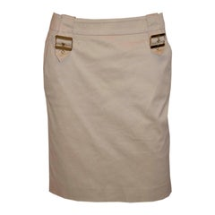 Gucci Gold Cotton Summer Skirt